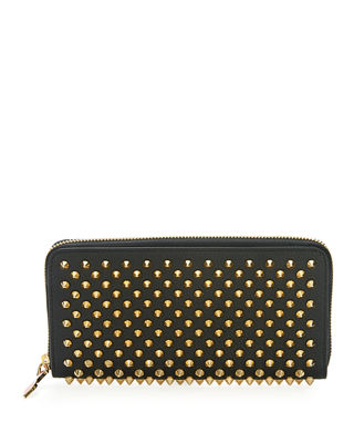 Image 1 of 2: Panettone Spiked Leather Zip Wallet