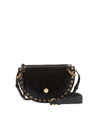 Moon Medium Mixed-Media Crossbody Bag