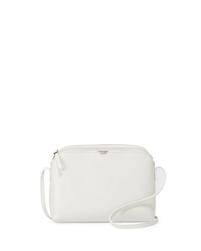 The Row Multi Pouch Leather Shoulder Bag Available In White