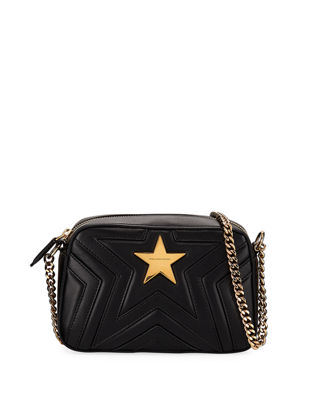 Pre-Owned: Stella Star Crossbody Bag Quilted Faux Leather Medium, Black from Al Duca d'Aosta