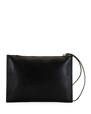 Alter Faux Nappa Leather Wristlet Clutch - Black