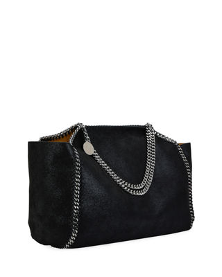Image 3 of 4: Falabella Medium Shaggy Deer Reversible Tote Bag