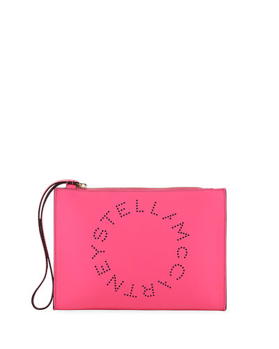 Perforated Logo Clutch Bag