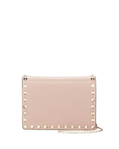 Rockstud Smooth Leather Pouch Crossbody Bag