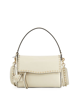 Rockstud Smooth Top Handle Bag