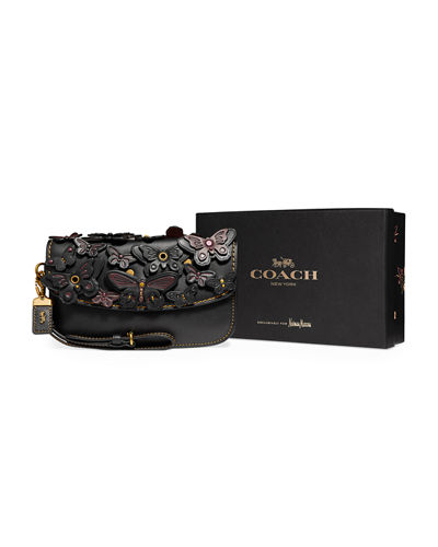 Butterfly Large Wristlet Clutch Bag