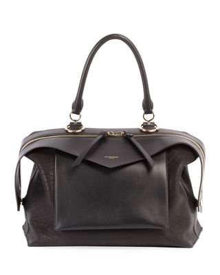 Image 1 of 2: Sway Medium Leather Satchel Bag