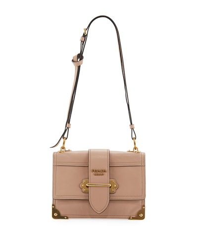 Prada Glace Cahier Small Calf Shoulder Bag