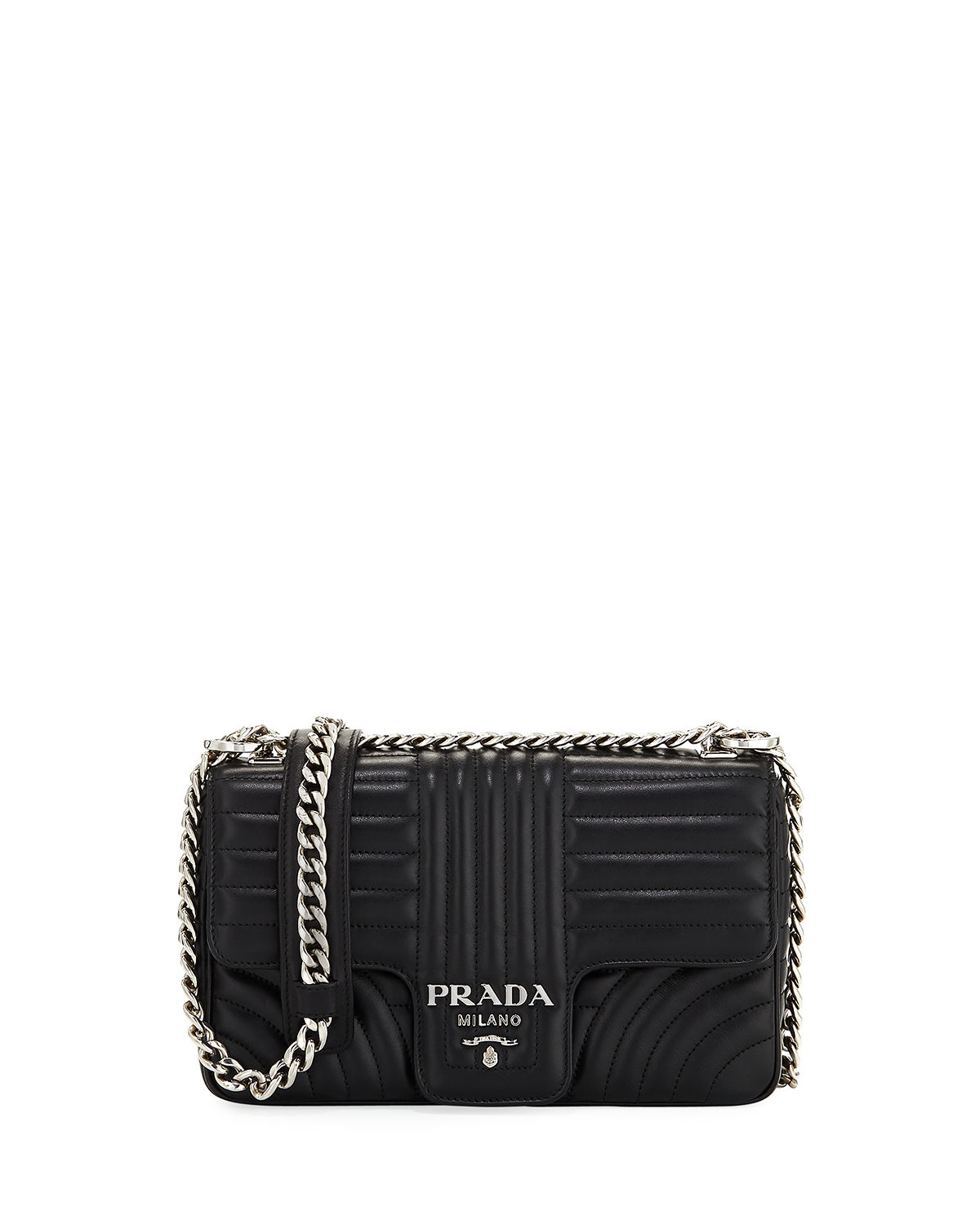 330537f5fb1a Prada Medium Diagramme Shoulder Bag | Neiman Marcus