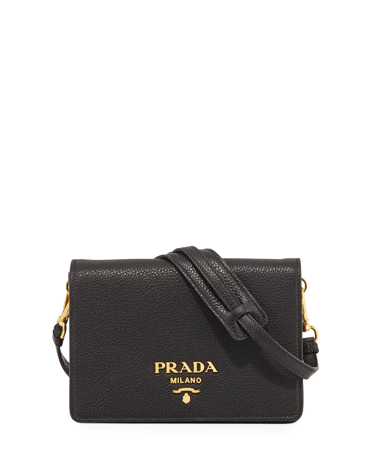 a4adce4ee546c0 Prada Daino Small Leather Shoulder Bag | Neiman Marcus
