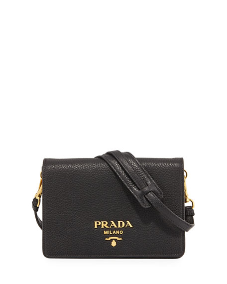 fba12d3cbf89 Prada Daino Small Leather Shoulder Bag | Neiman Marcus