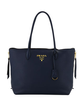 Daino Double Handle Leather Tote Bag