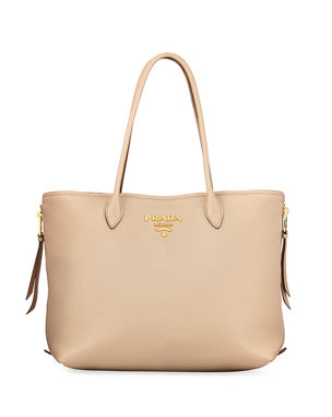 323170dcbfc7 Prada Daino Top-Handle Shopper Tote Bag