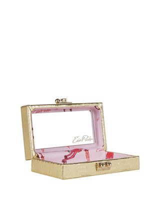 Image 2 of 3: Jean Lizard Framed Clutch Bag