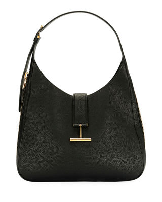 TOM FORD Tara Grain Lux Calf Shoulder Hobo
