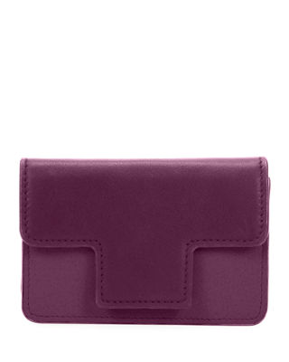 Colorblock Leather Card Holder