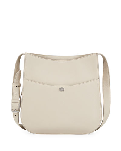 Loro Piana Fleur Large Leather Crossbody Bag