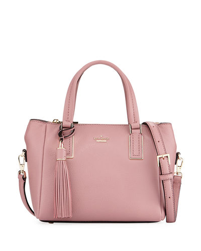 alena small pebbled satchel bag