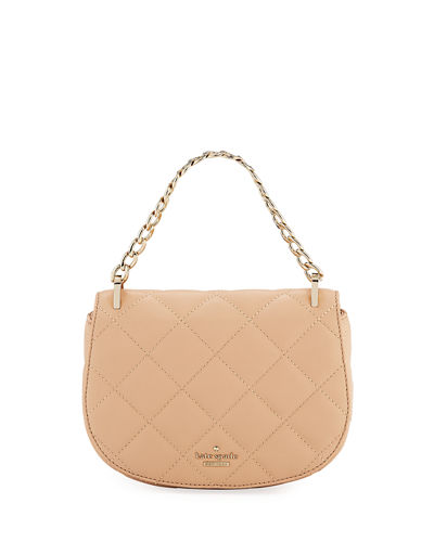 rita quilted chain top handle bag