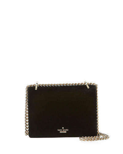 marci velvet flap chain shoulder bag