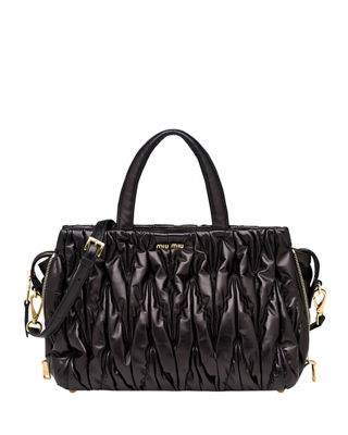 Miu Miu Matelass?? Large Double Handle Tote Bag