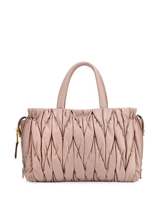 Miu Miu Matelassé Large Double Handle Tote Bag