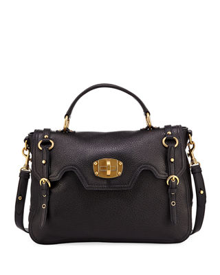 Miu Miu Cervo Turn-Lock Top-Handle Bag