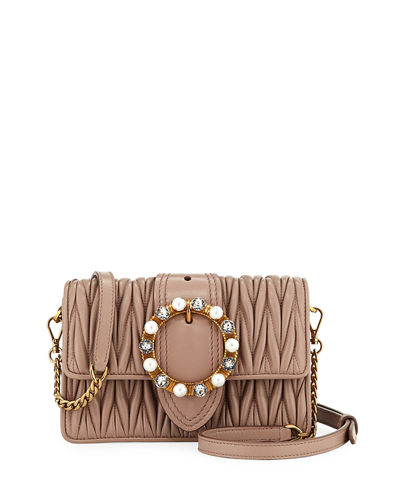 Lady Mini Matelassé Crossbody Bag