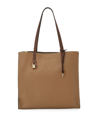 Image 1 of 4: The Grind Pebbled Leather Shopper Tote Bag