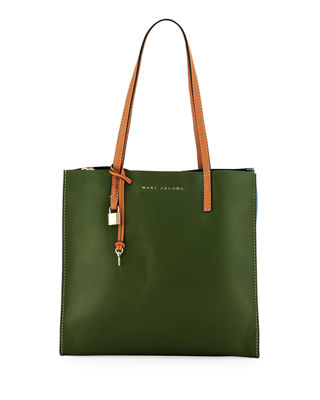Marc Jacobs The Grind Pebbled Leather Shopper Tote Bag