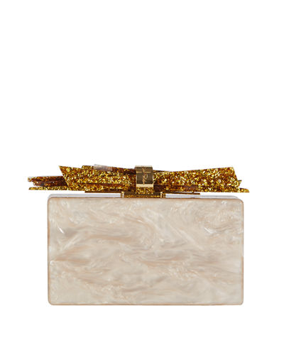 E Parker Wolf Acrylic Shard Clutch Bag