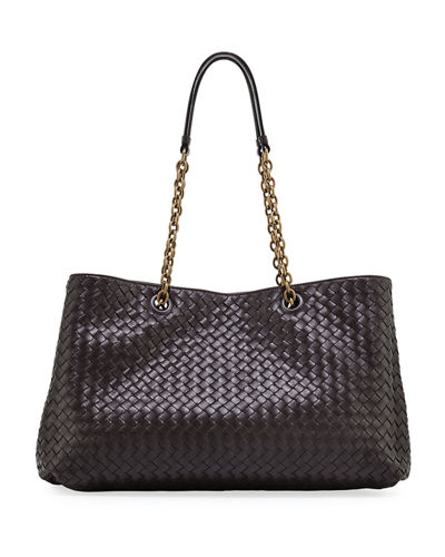 Bottega Veneta Large Intrecciato Double Chain Tote