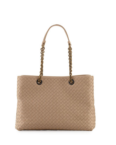 f8588efe7f4cff Quick Look. Bottega Veneta · Intrecciato Medium Double-Chain Tote Bag