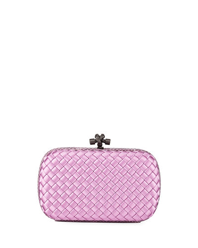 Quick Look. Bottega Veneta · Medium Chain Knot Satin Clutch Bag d9169be610110