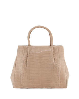 Nancy Gonzalez Medium Crocodile Carryall Tote Bag