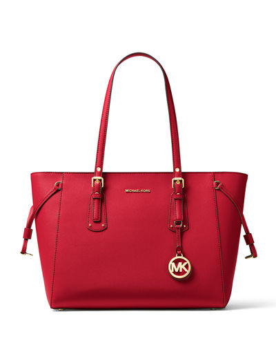 MICHAEL Michael Kors Voyager Medium Leather Shoulder Tote