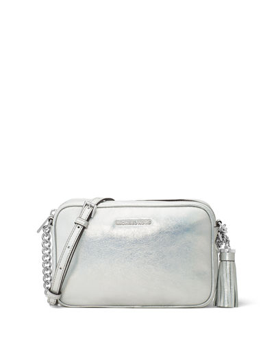 MICHAEL Michael Kors Ginny Medium Metallic Camera Bag