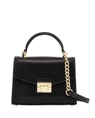 Image 1 of 4: Sloan Small Polished Leather Satchel Bag