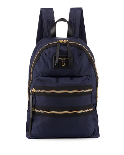 Zip Nylon Biker Backpack