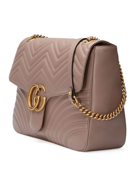 bccc6d36c82a Image 4 of 4: Gucci GG Marmont Large Chevron Quilted Leather Shoulder Bag