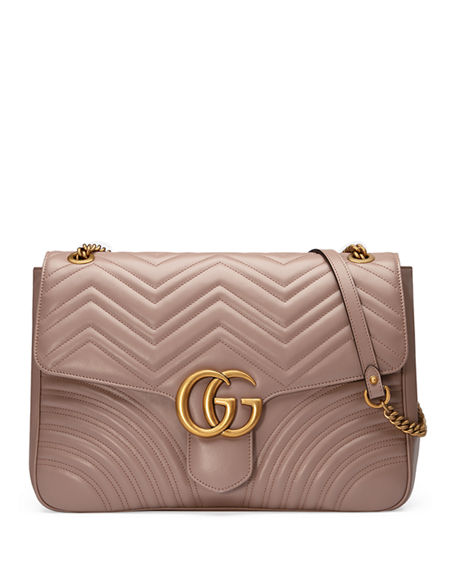 50de2980f7a Image 1 of 4  Gucci GG Marmont Large Chevron Quilted Leather Shoulder Bag