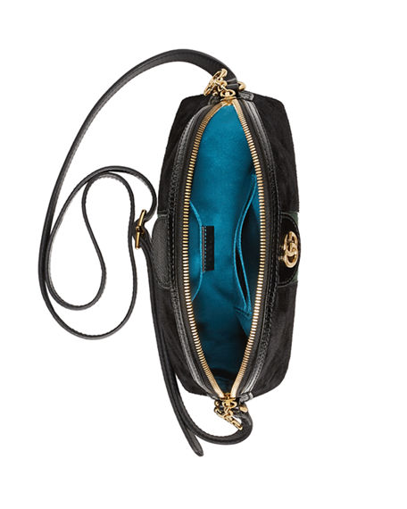 64416957cb8 Image 2 of 5  Linea Dragoni Suede Small Chain Shoulder Bag