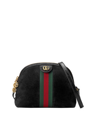 Gucci Linea Dragoni Suede Small Chain Shoulder Bag SAVyd4nib