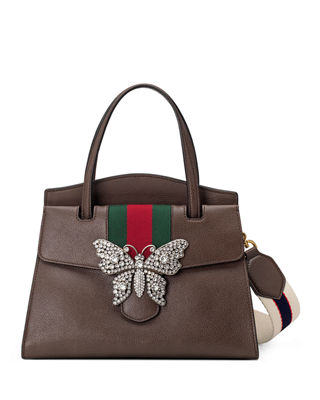 Gucci Linea Totem Medium Leather Top-Handle Bag with