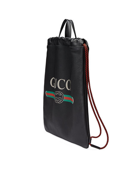 c4887b88f45 Image 4 of 4  Gucci Gucci-Print Leather Drawstring Backpack