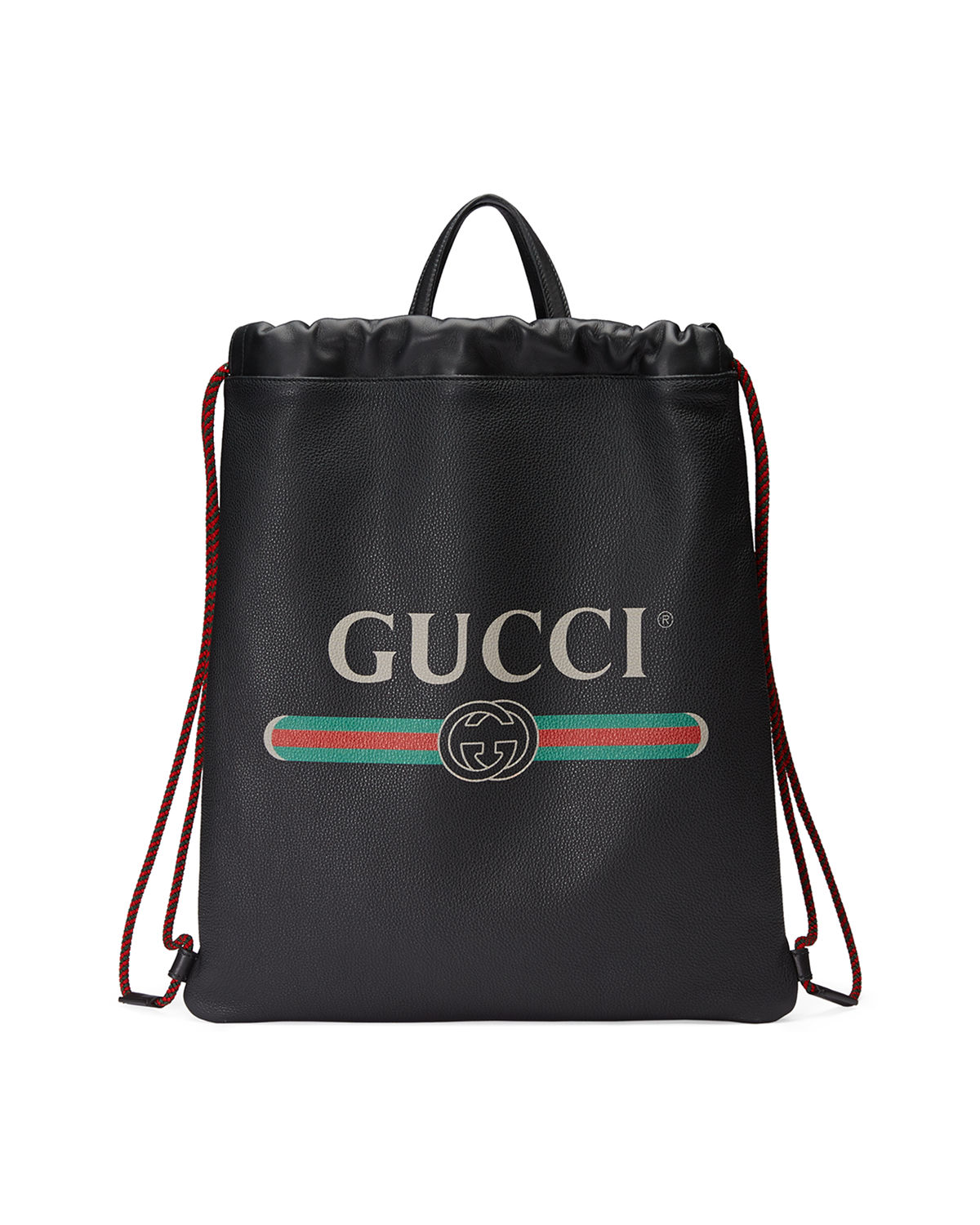Gucci Gucci-Print Leather Drawstring Backpack  c991fc72be9a4