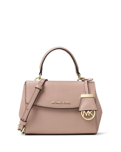 Ava Extra-Small Saffiano Leather Satchel Bag