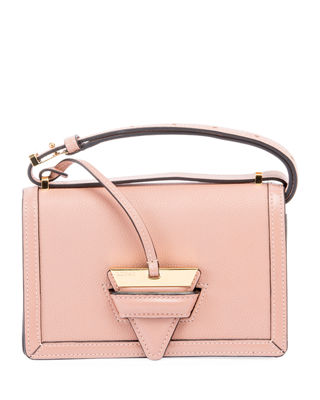 Barcelona Small Grain Leather Crossbody Bag