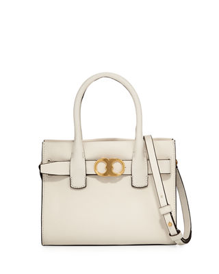 Tory Burch Gemini Small Link Leather Tote Bag