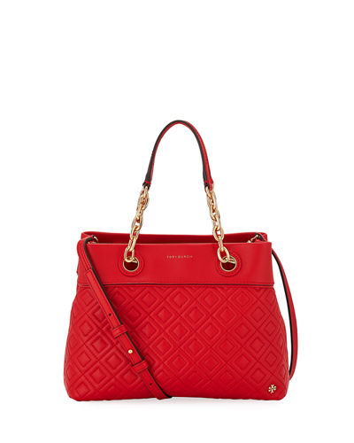 Fleming Small Quilted Leather Tote Bag